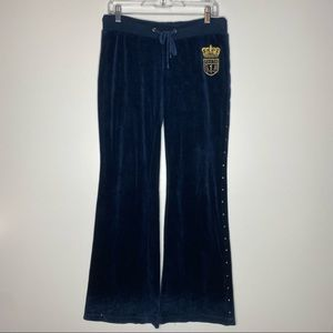Juicy Couture Velour Studded Wide Leg Pants